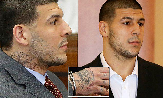 Aaron hernandez might be a member of the bloods now and for Aaron hernandez neck tattoo meaning
