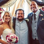 The Rock adds wedding official to his many talents. » http://t.co/E1wGublNTE http://t.co/A9EH9PHXGD