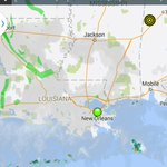 Upper 60s-low 70s. NE 10 mph. Rain offshore along stalled cold front. Less humid out! Mostly cloudy #nola #fb #mswx http://t.co/LAp13nLoxt