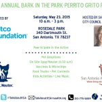 Only a few more hours until the weekend starts. Stop by Bark in the Park this Saturday for a fun day! #sanantonio http://t.co/s9jo2NQq4j
