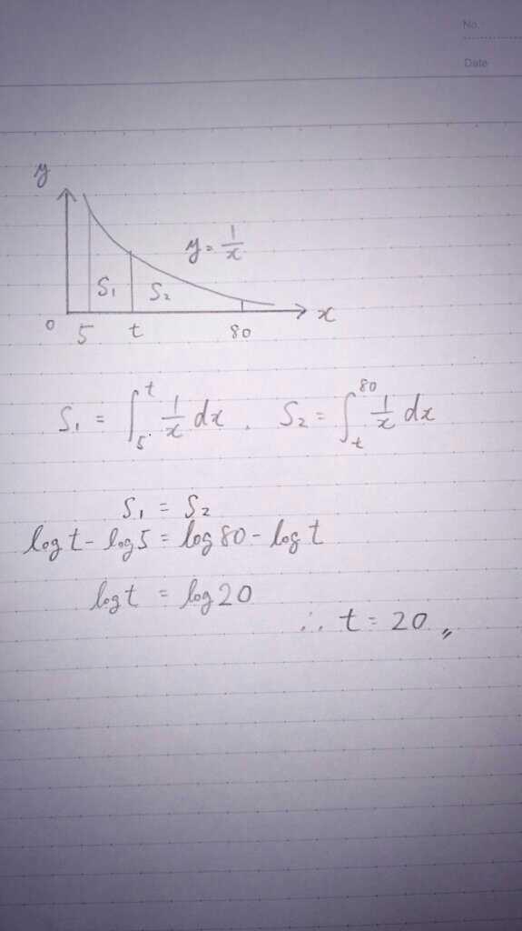 【体感時間における人生の折り返し】3歳頃までの記憶は薄いことが知られているので、計算上は簡単のため人生を5歳~80歳とし、用いる関数は単純にy=1/xとしました。すると、累積体感時間が半分になる年齢は【20歳】でした。 http://t.co/Ov7LFtLvcg