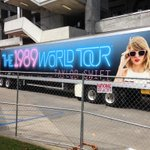 #1989WorldTourBatonRouge arrives. Well, at least the trucks do. #TaylorSwift @taylorswift13 http://t.co/erCOTm4If6