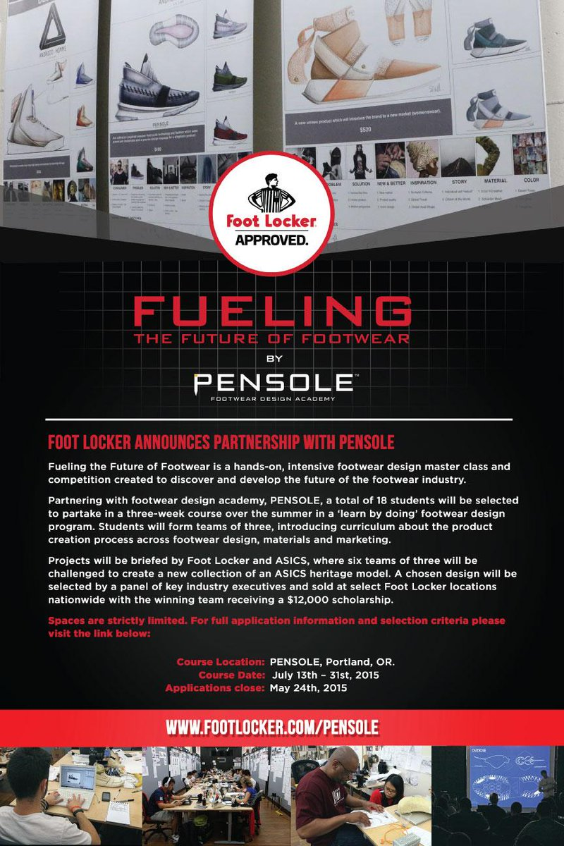 "There are just ""3 days"" left for all aspiring designers to enter the @footlocker @Pensole_Academy  Design Competition http://t.co/NIhx7im6kj"