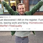 @GMA MT .a Dubliners last-minute dash home from Edinburgh to vote is AMAZING! http://t.co/FlgUs0hfhr @kDamo http://t.co/5isINd6PJr #MarRef