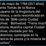 via @Jleon22: Feliz cumpleaños Ciudad Bolívar http://t.co/Xs7Ep8xnay #Guayana
