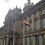 The flag is up for the @BirminghamPride Parade - leaving Victoria Sq by the Council House tomorrow 12 midday http://t.co/z0aaveFgdG