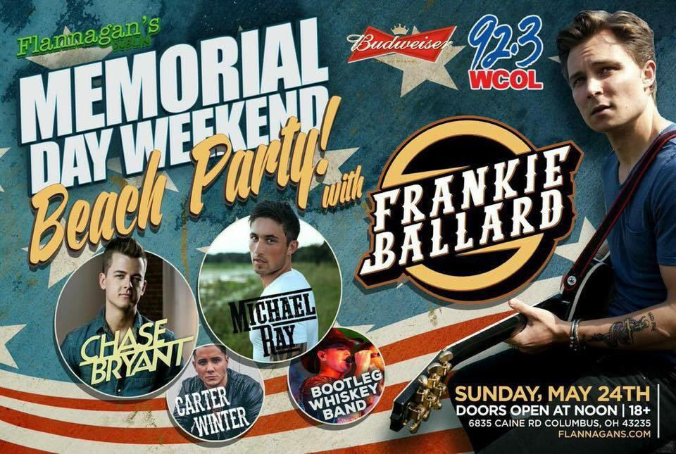 #RT this post to win a pair of tickets to see @FrankieBallard Live @FlannagansDub Sun. 24/15! Winner selected @5PM http://t.co/lwojHsCmNG