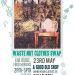 The #Birmingham Real Junk Food Project is hosting a Waste Not Clothes Swap at The Edge in #Digbeth tomorrow at 2pm. http://t.co/KEXh5CM2yK