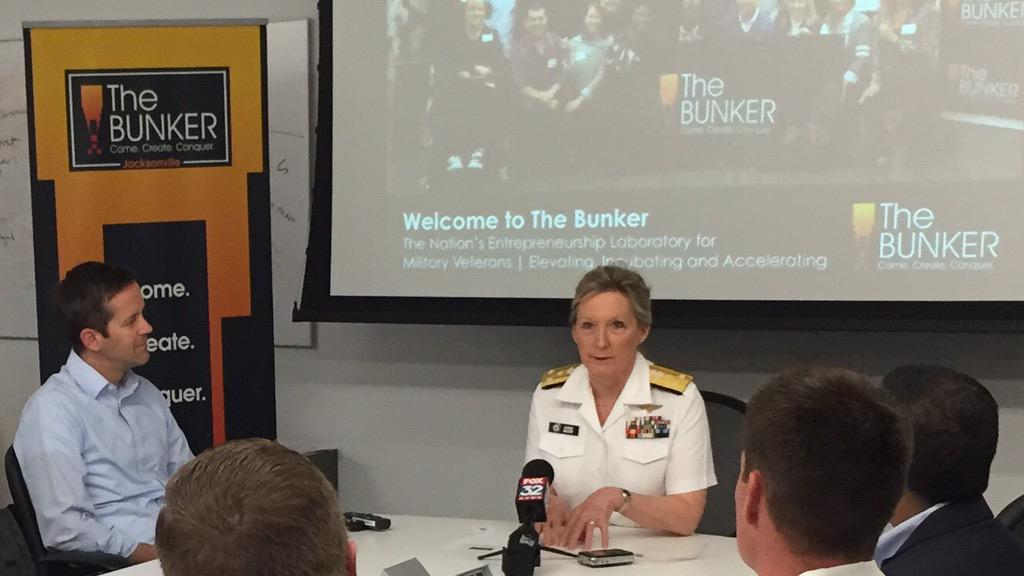 It's not everyday that an #Navy Admiral stops by @BunkerIncubator to chat with #veteran #startups at @1871Chicago. http://t.co/nNIdRlXnPT