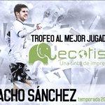 Enhorabuena a @Nacho_S9 , jugador de @UnionistasCF : ganador del I Trofeo @Ecotisa_ http://t.co/L5ew5yzW0e