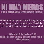 #niunamenos. Marchamos en Córdoba el miércoles 3 de junio. A las 17. Colón y Cañada. Retuiteen. Vengan. http://t.co/8syCjkLt3O