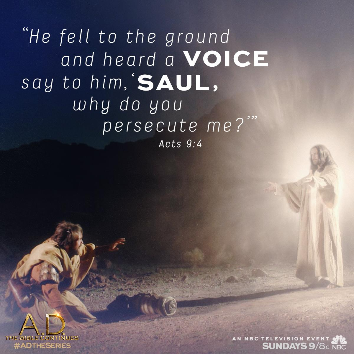 Jesus appears to Saul & turns a cold heart. All new A.D. The Bible Continues, Sunday 9/8c on @NBC! #ADTheSeries http://t.co/6awCR1rvzx