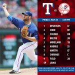 Colby Lewis gets the nod as the Rangers open a series with the Yankees tonight in New York: http://t.co/h3EZHF7Lih http://t.co/4jqAH15nLf