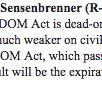 "Rep. Sensenbrenner, original Patriot Act author, slams Burr Patriot Act proposal as ""dead-on-arrival"" in House http://t.co/RpmHMrVoaz"