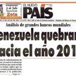 Así estamos: Titular del año 2011 que nadie creía posible, hoy por hoy en Venezuela estamos quebrados. #22M 2015. http://t.co/SkX4QFc0d3