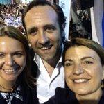 Selfie de final de campaña @JRBauza @MariaSalomColl @marga_duran, el domingo #VotaPPBalears http://t.co/b7zdmBBaCP