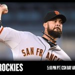 Ryan Vogelsong gets the start tonight vs Rockies in #SFGiants series opener: http://t.co/fDWrkNL74e http://t.co/wUSsH0xvT3