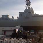 Testing for #Hobart39 launch today!! @AWDAlliance @Raytheon @ASCdefence @Australian_Navy @DeptDefence http://t.co/lVxsPA81h7