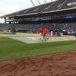 The best two teams in baseball are less than 2 hours away from first pitch. Stay away, rain. #STLCards #Royals http://t.co/IVwts3ZFwG
