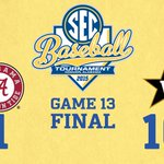 Did you see that?! @VandyBaseball run-rules @AlabamaBSB 16-1 in Game 13. #SECTourney http://t.co/iHntnReyv2