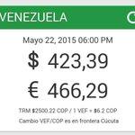 #22M En menos de 24 horas el dólar paralelo ha subido seis veces así se cotiza a esta hora #360ucv http://t.co/n78w67LLgb