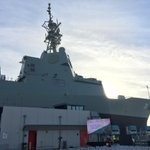 Today on @ABCNews24 the launch of HMAS Hobart http://t.co/XmR6OA75nN