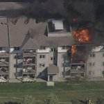 Fire crews battle massive condo blaze in northeast Edmonton http://t.co/CNUQvHKUex #yeg http://t.co/Zz0pQhNpfR