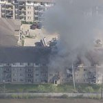 View of massive Clareview condo fire from Global 1 news helicopter http://t.co/5L4R82YTMM #yeg http://t.co/SP1NdkR1Oy