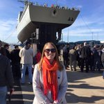 So proud of my ship building daughter at the launch of #Hobart39 http://t.co/YABsxsTGVu
