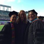 At AT&T Park with @phoebe_dye & @murrdoc waiting for #SFSU2015 Commencement to start! http://t.co/n5VNxEBAra