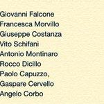 Per ricordarli tutti, perché a #Capaci non cerano solo Giovanni Falcone e Francesca Morvillo... http://t.co/xelXHrNk0K