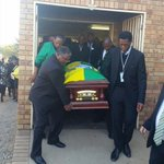 #RuthMompati The cortege is leaving the church in Huhudi, Vryburg #sabcnews http://t.co/AggYWFvaBH