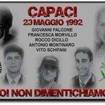 23 maggio: per non dimenticare Giovanni Falcone, Francesca Morvillo, Rocco Dicillo, Antonio Montinaro, Vito Schifani http://t.co/eEhfeepEIP