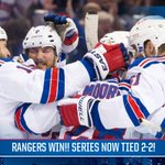 #NYR win 5-1!! Series now tied at 2!! #ChangeTheEnding http://t.co/my4SDJ6YJu