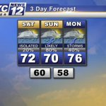 SOUTHERN MINNESOTA WEATHER: Best chance for storms arrive on Sunday & Monday in southern Minnesota. #MNwx #Mankato http://t.co/DRGEgFamdL