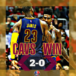 No Kyrie Irving, No problem. Cavs cruise to 94-82 victory over Hawks & take 2-0 lead. LeBron: 30 Pts, 11 Ast, 9 Reb. http://t.co/CleUXHgsaO