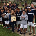 Redlands boys tennis poses with its new CIF title. #Redlands http://t.co/NiPTNadfwG