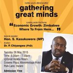 Join me on Tuesday evening at the crown plaza hotel as we discuss key issues. @263Chat @ZiFMStereo @CurateZim http://t.co/rLTb056hIr