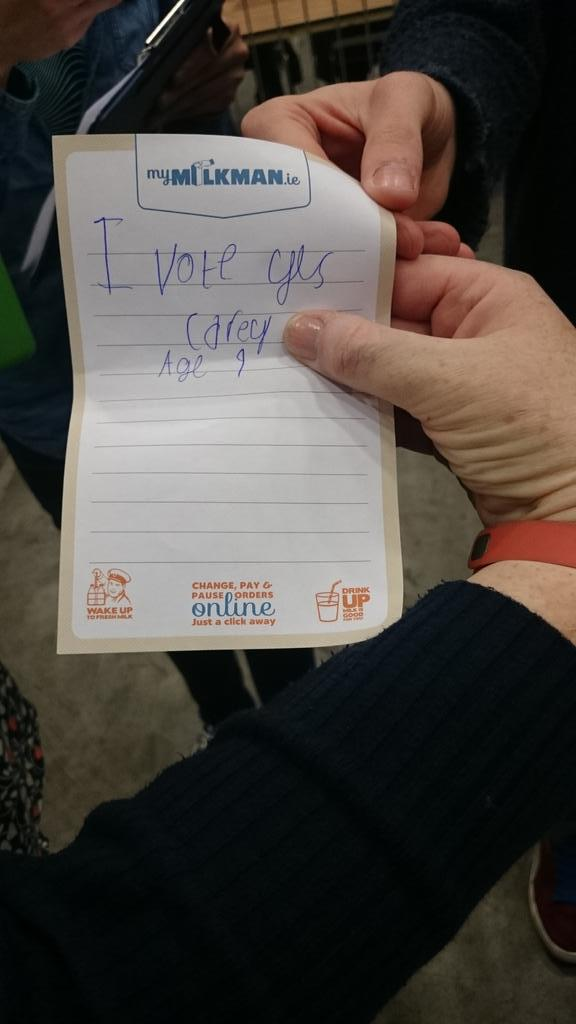 A kid slipped this adorable note into a ballot box in Dublin, and we can't cope: http://t.co/5y3QKViDJW #marref