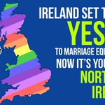 Ireland is set to vote #YesEquality for marriage equality! Tomorrow, eyes are on you, Northern Ireland! #MarRef http://t.co/weX2hTdoAt