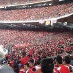 Lautan merah di bukit jalil. Semoga kejayaan bersama kami. #GomoKelateGomo #GKG @KelantanUltras http://t.co/3Ytoy7FYFz