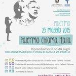 Riprendiamoci i nostri sogni #23maggio #giovannifalcone #Palermo http://t.co/HSAGCXomTK