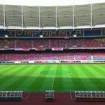 #PialaFA: Suasana terkini Stadium Nasional Bukit Jalil, kurang empat jam lagi pertembungan final Piala FA. Foto FAM http://t.co/BWMWQJOMGY