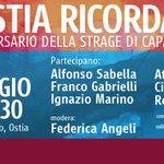 Contro tutte le mafie, nel ricordo di Giovanni Falcone. Vi aspetto oggi pomeriggio a Ostia #ionondimentico http://t.co/V93rvZFbzh