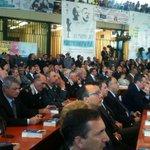 Comincia la celebrazione con Pres.Mattarella.#PalermoChiamaItalia,lItalia risponde con forza #23maggio @MiurSocial http://t.co/F2WFwGFjIw