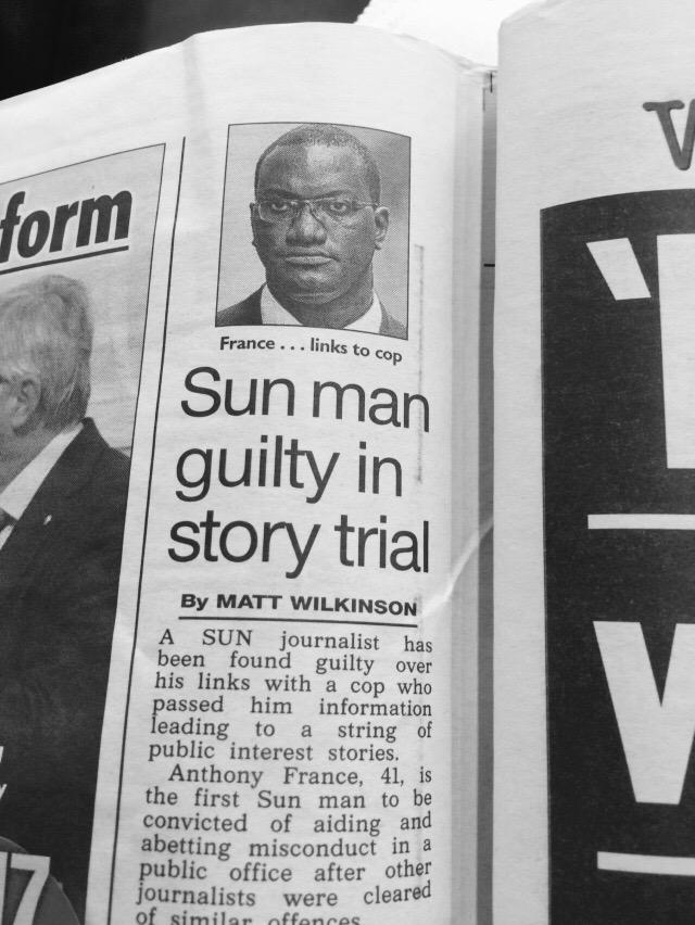 So 15 Sun journalists face trial. 14 are white and one is black. 14 acquittals and 1 guilty judgement later #WTF http://t.co/mpW4C7syCx