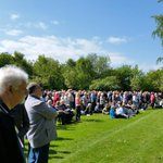 Some of the crowd gathering at #Pilrig #Edinburgh and #Leith to commemorate 100 years and a day since #Quintinshill http://t.co/gPh4OTc2gX