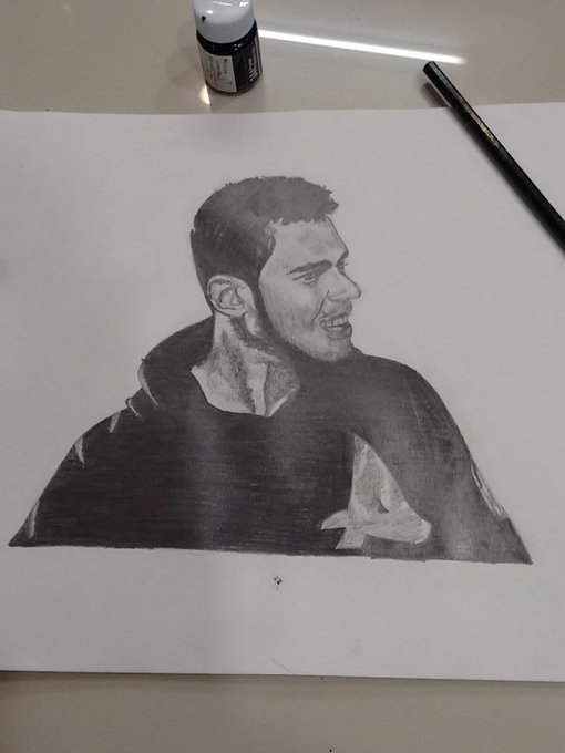 Finally finished with the sketch. #afrojack  #Ateam. I tried it for d first time. @djafrojack tell me if bad :) http://t.co/o31sPoEKuX