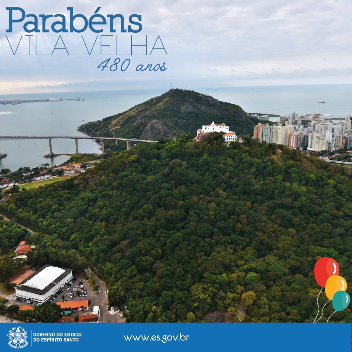 Comemoramos hoje a Colonização do Solo Espírito-Santense. Parabéns, Vila Velha! São 480 anos de história ;) http://t.co/N4TUU4sPxU