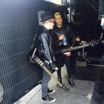 Just spotted @falloutboy getting in the zone ahead of their performance NEXT #BigWeekend http://t.co/6lUNggNJru